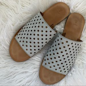 Frye Riley Perforated Slide Sandals